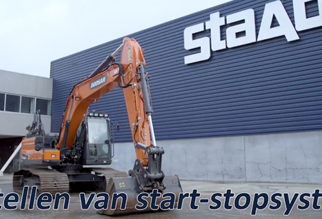 Doosan Rupsgraafmachine start- stopsysteem